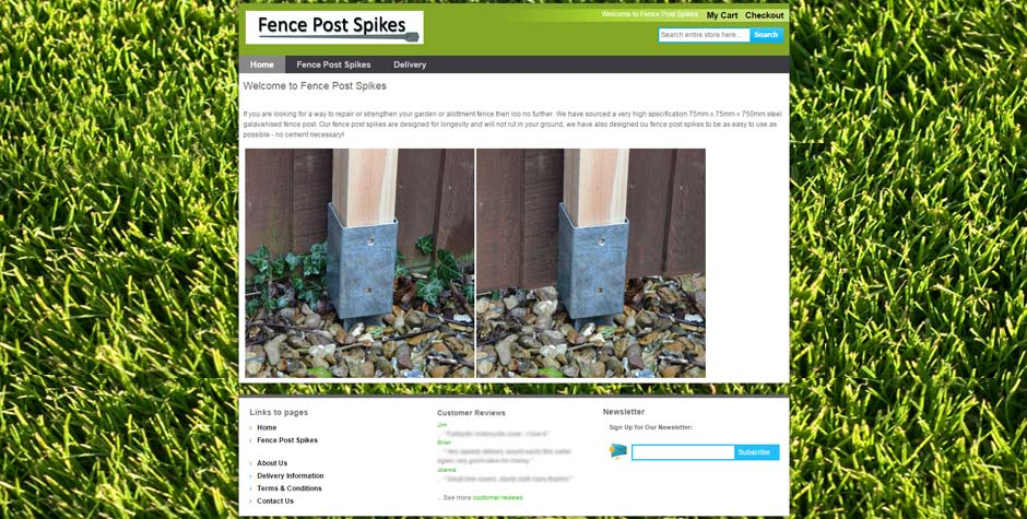 Fence Post Spikes Magento Website Design Ecommerce Shop