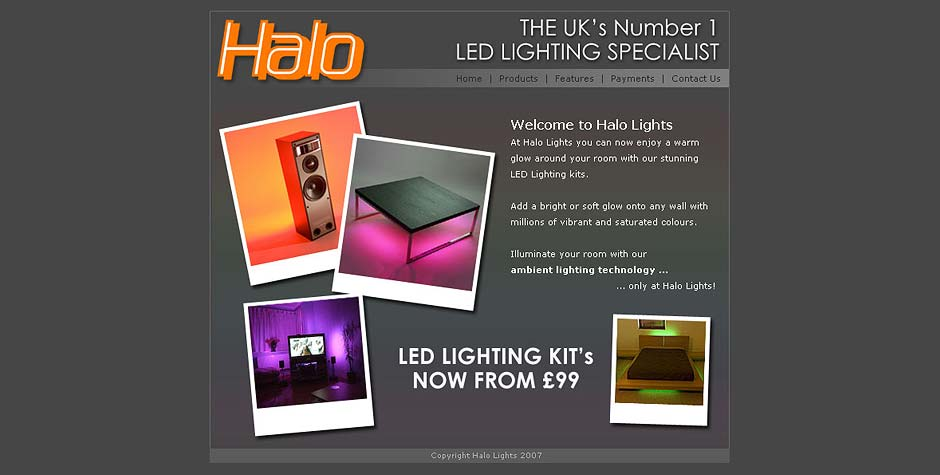 Halo Lights Lighting Mini Website