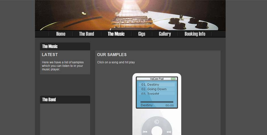 Obscure Music Band Leicester Website Design « S1TE net