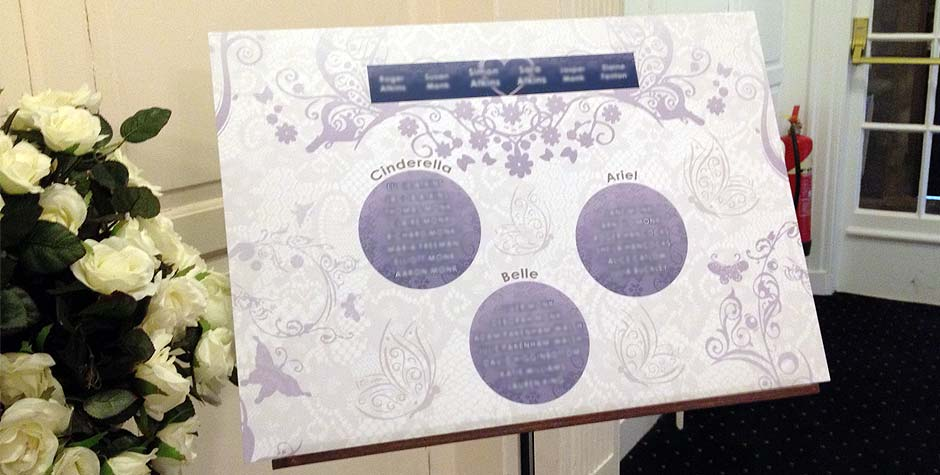 A2 Large Wedding Table Plan